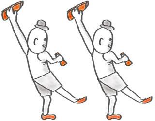 ボルダリングのテクニックのイメージ もくじ 力が働く方向にホールドをつかむ ホールドに乗っていな