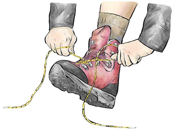 登山靴の履き方とならし・靴紐の結び方 / 初心者の登山・山登り入門